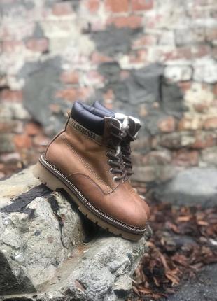 Ботинки landrover женские зимние кожаные на меху timberland