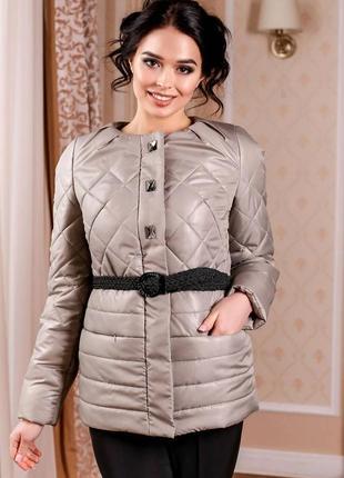 Куртка в-960 лаке тон 55 - оливка д, р. 44-50, украина