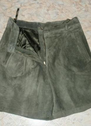 Отличные шорты-юбка из натуральной замши шортики замшевые юбка шорты брюки