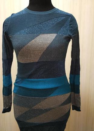 Нарядное платье с люрексом. праздничное платье. комбинированное платье