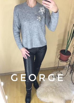 Тёплый свитер с бисером george