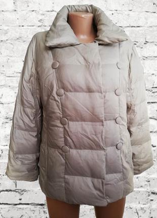 Фирменный теплый нюдовый /беж пуховик /зимняя куртка/ betty barclay