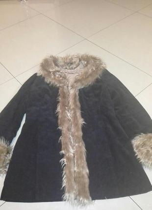 Пальто вельветове
