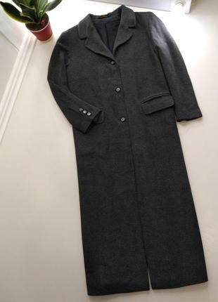 Marks&spenser шикарное двубортное  пальто шерсть и ангора