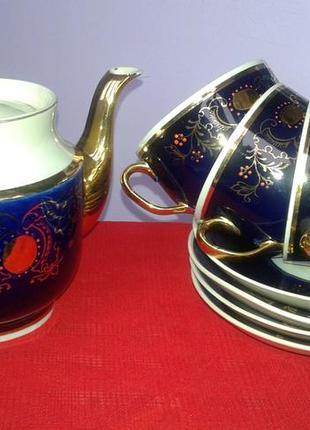 Чайный сервиз кобальт винтаж прошлый век