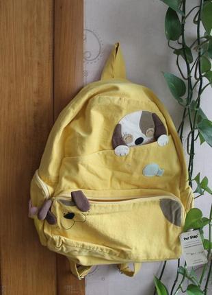 Желтый рюкзак с собачками