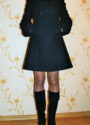 Пальто демисезонное чёрное stella polare