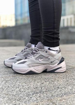Nike m2k tekno gray! шикарные женские кроссовки 😍 (весна/ лето/ осень)