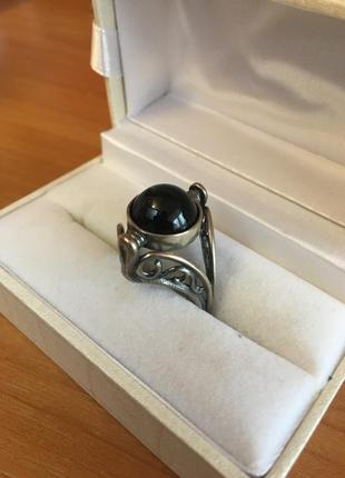 Серебряное кольцо с серьгами