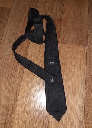 Фактурный черный базовый галстук hugo boss