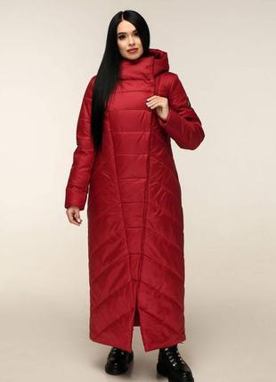 Пуховик-одеяло пв-1133 лаке тон 137 темно-красный, р.44-58, украина