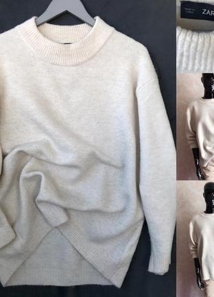 Шикарный объемный свитер zara оверсайз
