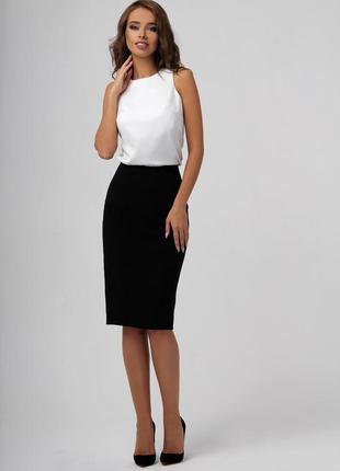 Черная юбка карандаш офисная деловая классическая миди next