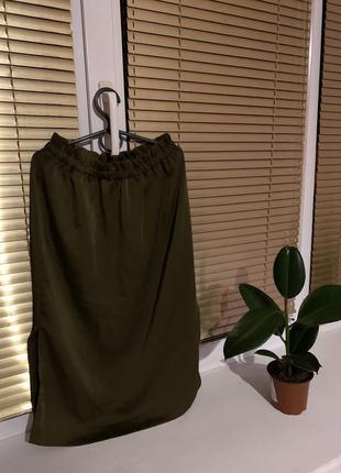 Юбка зелёная h&m размер xs, s