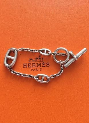 Серебряный браслет hermes. 925 проба.