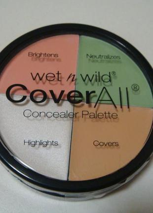 Wet&wild консиллер палетка coveral  . есть подарки.