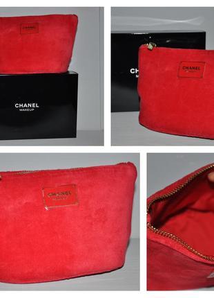 Косметичка chanel makeup bag идёт в коробочке  размер 15*11*8см
