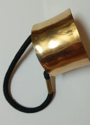 Резинка метал золотая