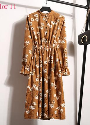 Винтажное миди платье с-м, микровельвет