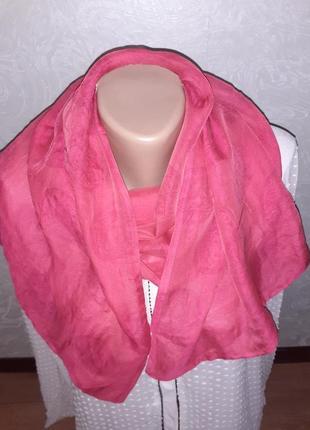 Нежный яркий шелковый шарф палантин versace /143*40 см