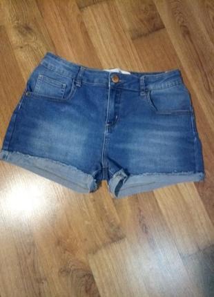Голубые синие короткие джинсовые деним шорты стрейч denim co