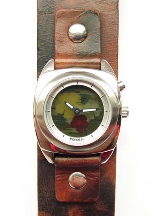 Fossil kaleido часы из сша экран с анимацией кожа механизм ronda