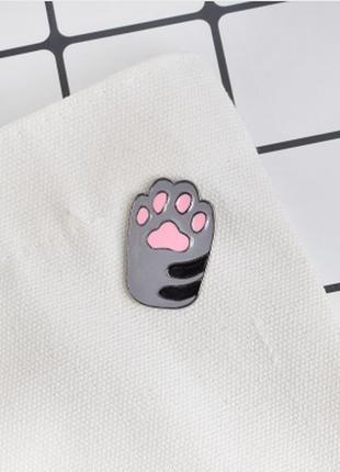 Большой выбор! стильный пин кот котик лапка брошь значек брошка