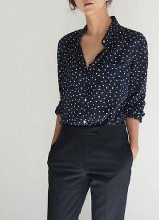 Рубашка блуза в трендовый мелкий горох