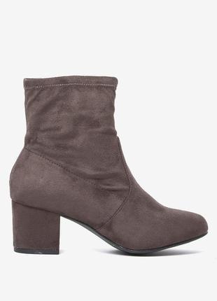 Новые под замшу ботильоны сапоги ботинки socks boots большой размер 7/40/41 27см