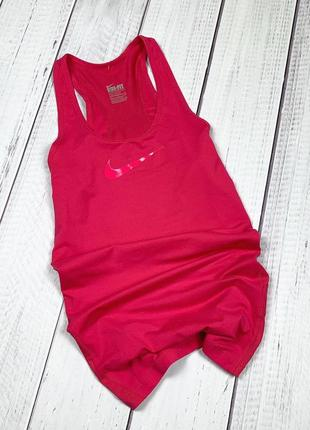Спортивная майка nike dri-fit original m женская розовая