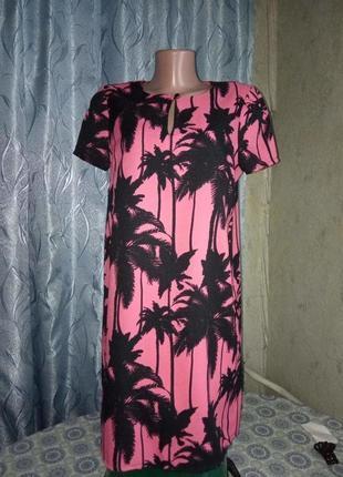 Яркое платье с пальмами