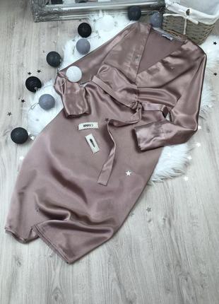 Атласна сукня  міді