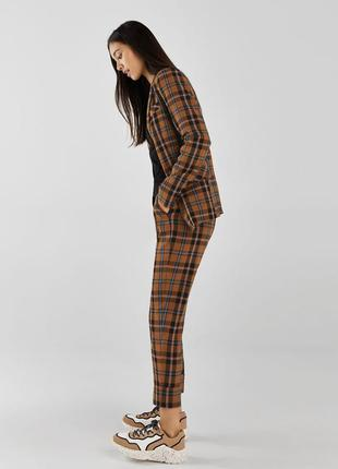 Новый костюм двубортный длинный жакет bershka брюки с защипами бершка zara