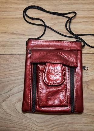 Стильная кожаная сумочка