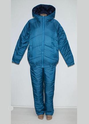 Женский зимний костюм бирюза 52-60р батал двойка куртка и штаны