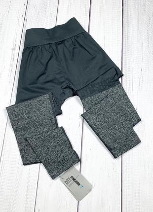Спортивные лосины gymshark two tone original m новые с бирками женские леггинсы