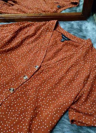 Свободная блузу кофточка из натуральной вискозы в горох new look