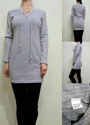 Туника свитер - трикотаж машинной вязки