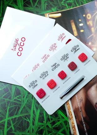 Chanel палетка помад rouge coco