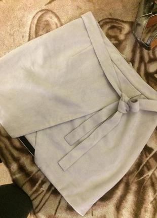 Мини юбка стальной оттенок