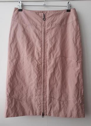 Утепленная пудровая юбка карандаш finn flare, размер xs