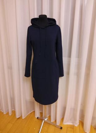 Новое трендовое платье стрейч с капюшоном style boom  раз.м