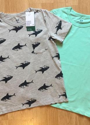 Набор футболок h&m, футболка для мальчика, р. 6-8 л, 122-128