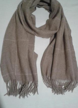 Теплый шерстяной мужской шарф шалик +300 шарфов и платков на странице