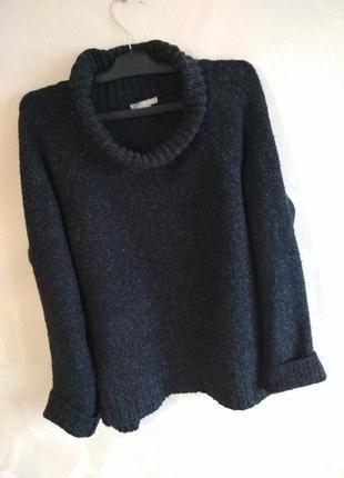 Теплый свитер оверсайз с воротом, пуловер h&m