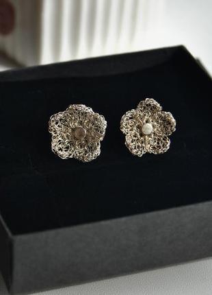 Комплект серебряные сережки кулон серьги just trade /срібні сережки