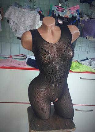 Эротический сексуальный 🔥 комбинезон боди сетка с-41 sexy белье бодистокинг body stocking😍