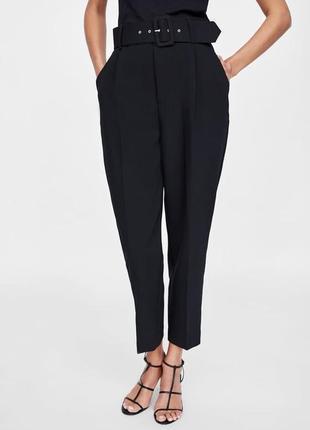 Черные брюки zara
