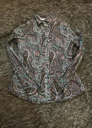 Рубашка с принтом  вензеля