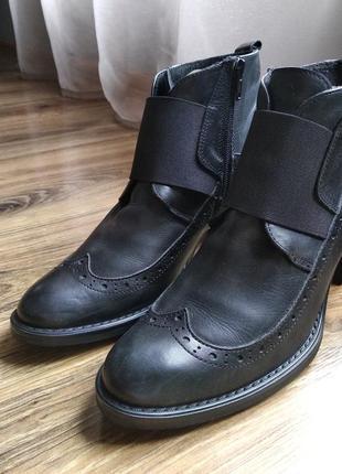 Ботинки оксфорды из натуральной кожи фирмы madame vestiaire